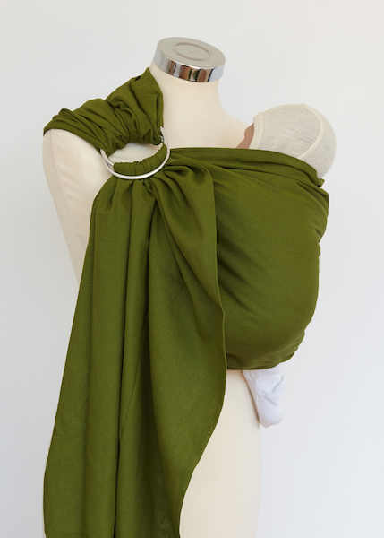 Olive Cotton Ring Sling