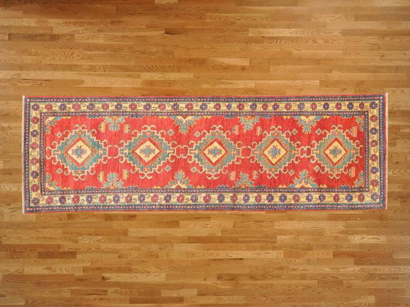 23704 - Vegetable Dye Wool Hallway Runner Rug - 80X300cm