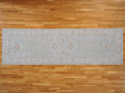 15502 - Vegetable Dye Wool Hallway Runner Rug - 80X360cm