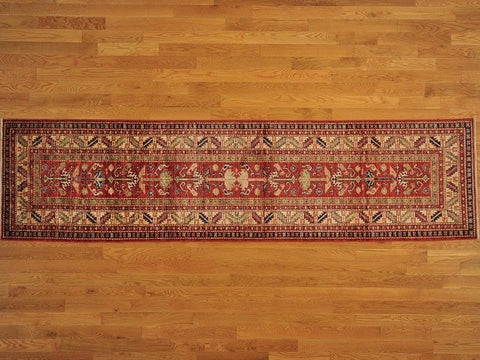 16532 - Vegetable Dye Wool Hallway Runner Rug - 80X360cm