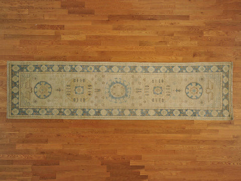 17833 - Vegetable Dye Wool Hallway Runner Rug - 80X300cm