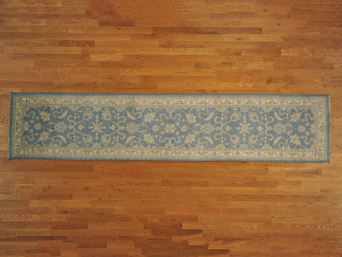 10848 - Vegetable Dye Wool Hallway Runner Rug - 80X390cm