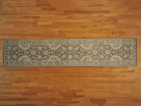 17850 - Vegetable Dye Wool Hallway Runner Rug - 80X400cm