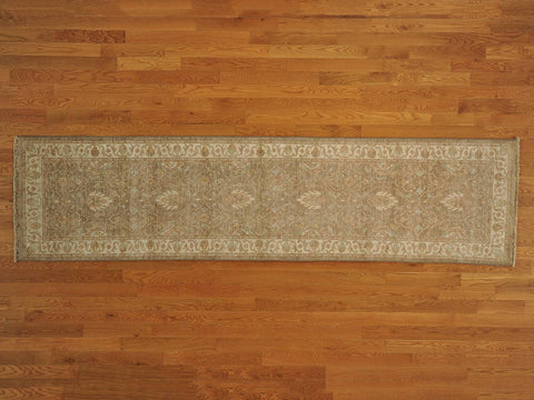 17867 - Vegetable Dye Wool Hallway Runner Rug - 80X300