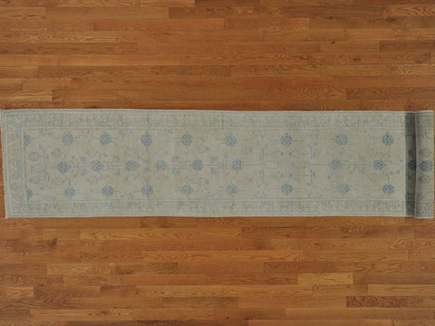 10134 - Vegetable Dye Wool Hallway Runner Rug - 80X450cm