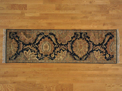 21568 - Vegetable Dye Wool Hallway Runner Rug - 80X300