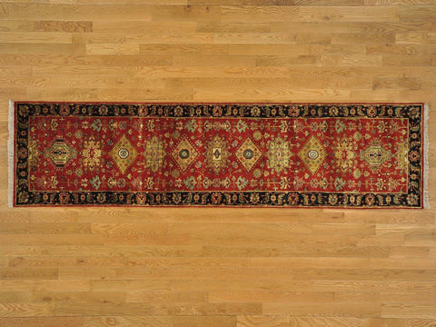 22291 - Vegetable Dye Wool Hallway Runner Rug - 80X400cm