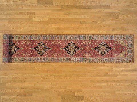 22309 - Vegetable Dye Wool Hallway Runner Rug - 80X500cm
