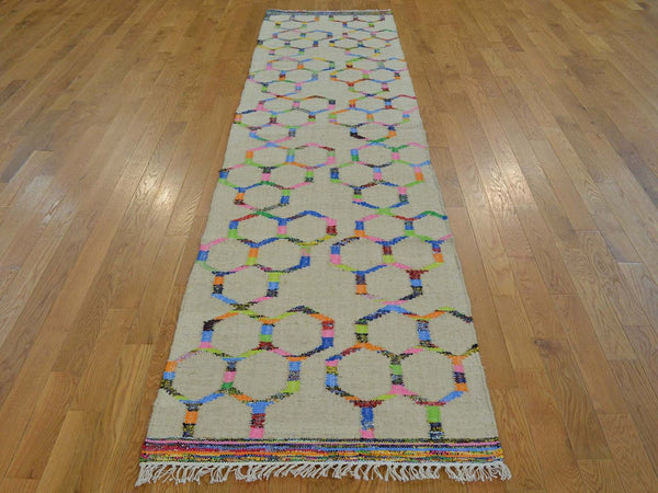 22485 - Vegetable Dye Wool Hallway Runner Rug - 80X300cm