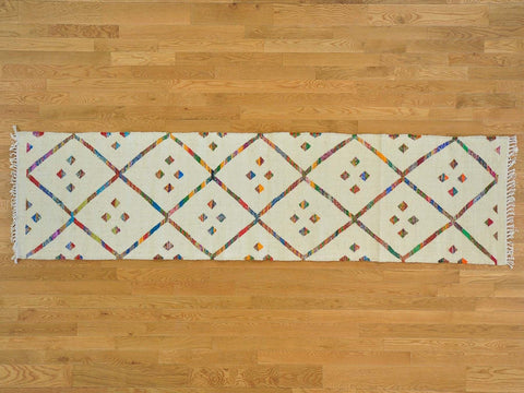 22503 - Vegetable Dye Wool Hallway Runner Rug - 80X300cm