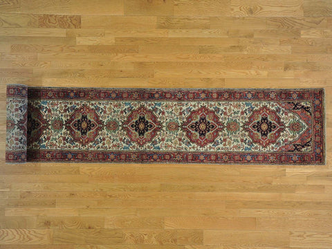 23261 - Vegetable Dye Wool Hallway Runner Rug - 80X600cm