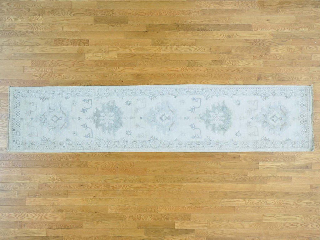 25486 - Vegetable Dye Wool Hallway Runner Rug - 80X360cm