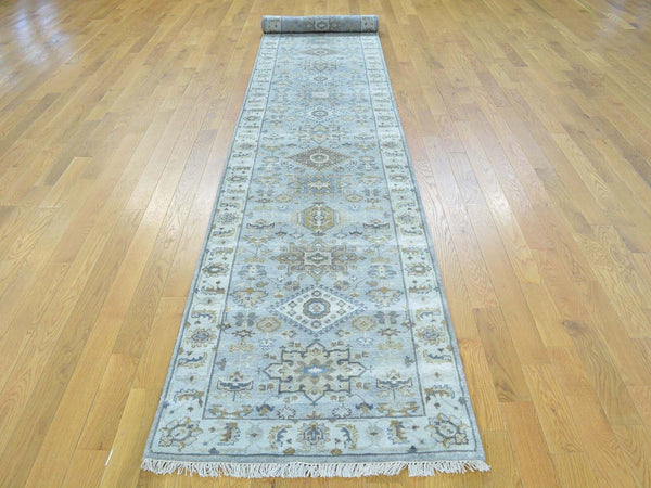 26379 - Vegetable Dye Wool Hallway Runner Rug - 80X550cm
