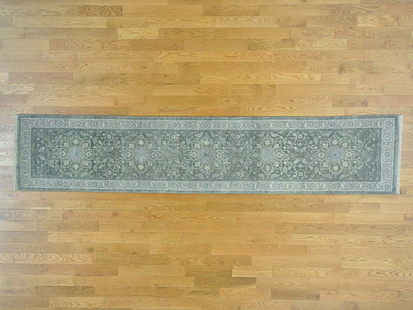 26697 - Vegetable Dye Wool Hallway Runner Rug - 80X400cm