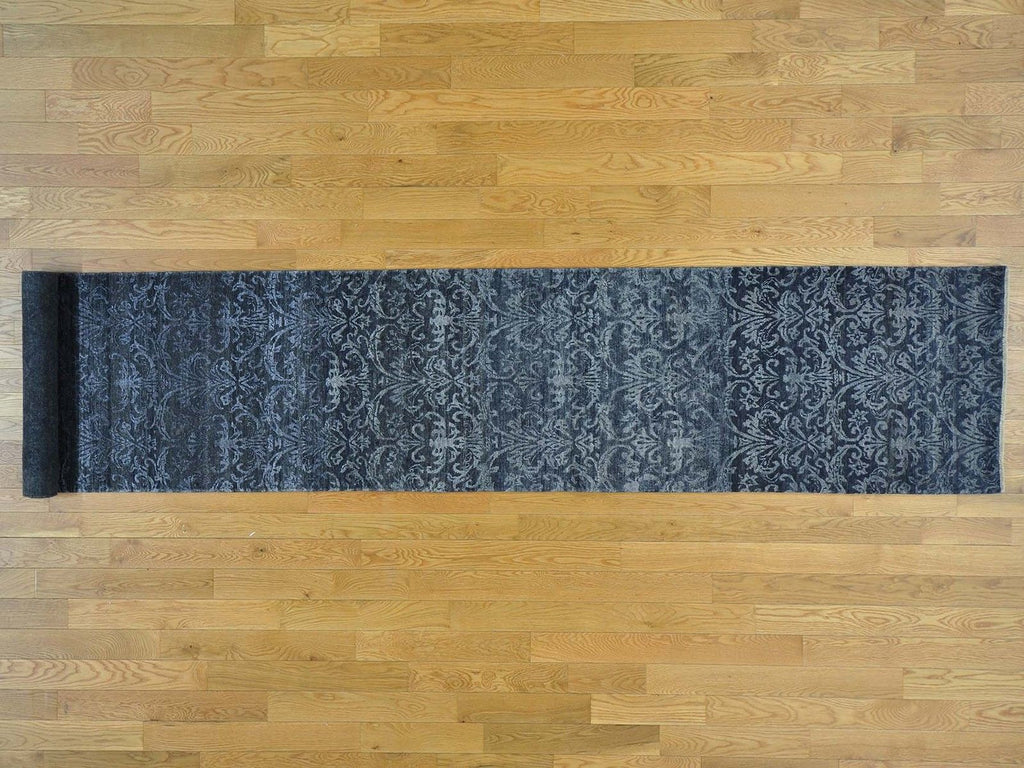 27142 - Vegetable Dye Wool Hallway Runner Rug - 80X450cm