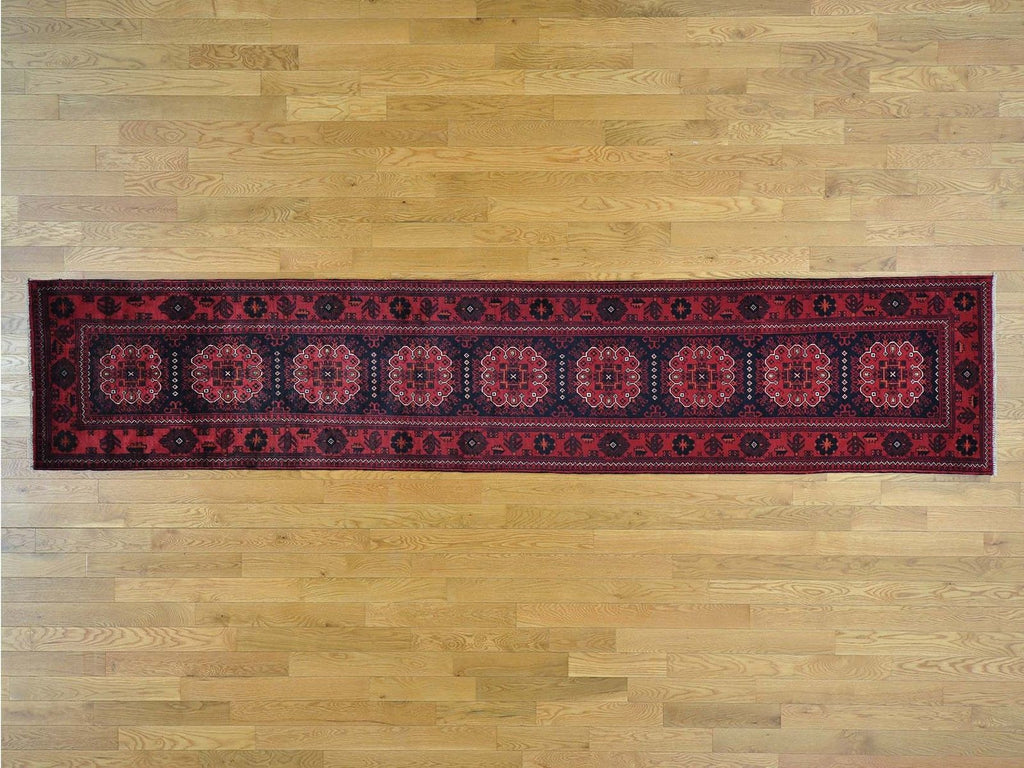 27529 - Vegetable Dye Wool Hallway Runner Rug - 80X450cm