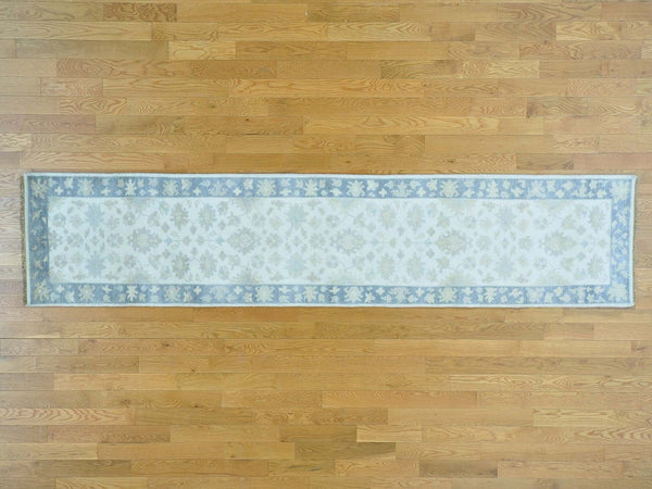 28544 - Vegetable Dye Wool Hallway Runner Rug - 80X360cm