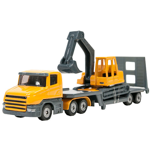 LOW LOADER W EXCAVATOR scale model