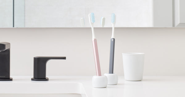 Rose Gold and Slate Grin Toothbrushes