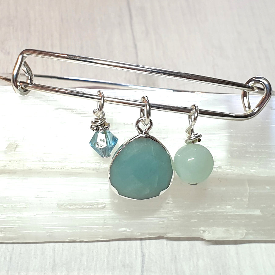 Amazonite gemstone bracelet.