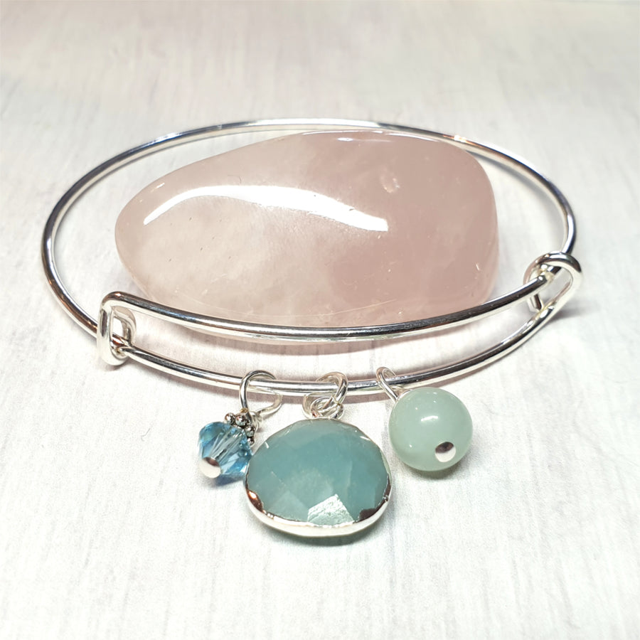 Amazonite gemstone charm bracelet.