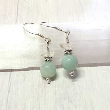 Amazonite gemstone earrings.