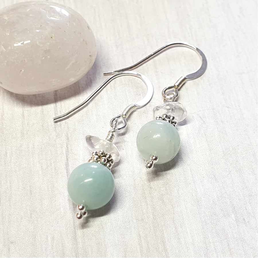 Soothing amazonite gemstone earrings.