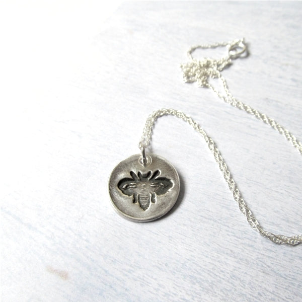 Cute little bee necklace.