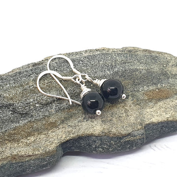 Black tourmaline grounding earrings.