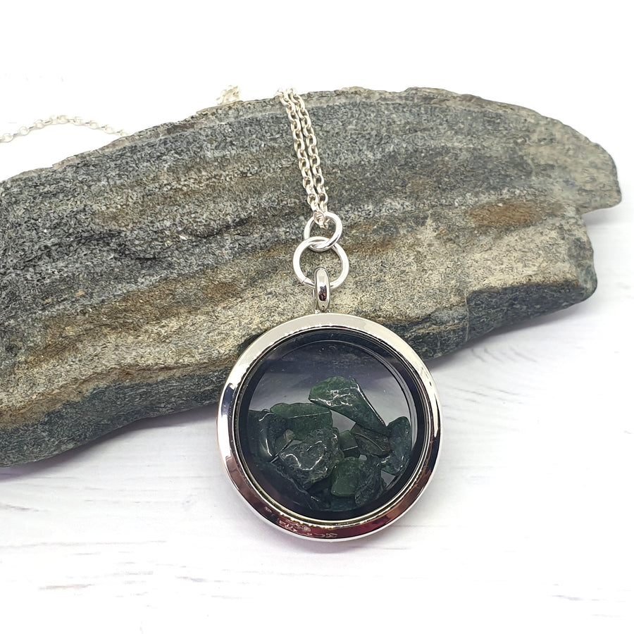 Bloodstone necklace.