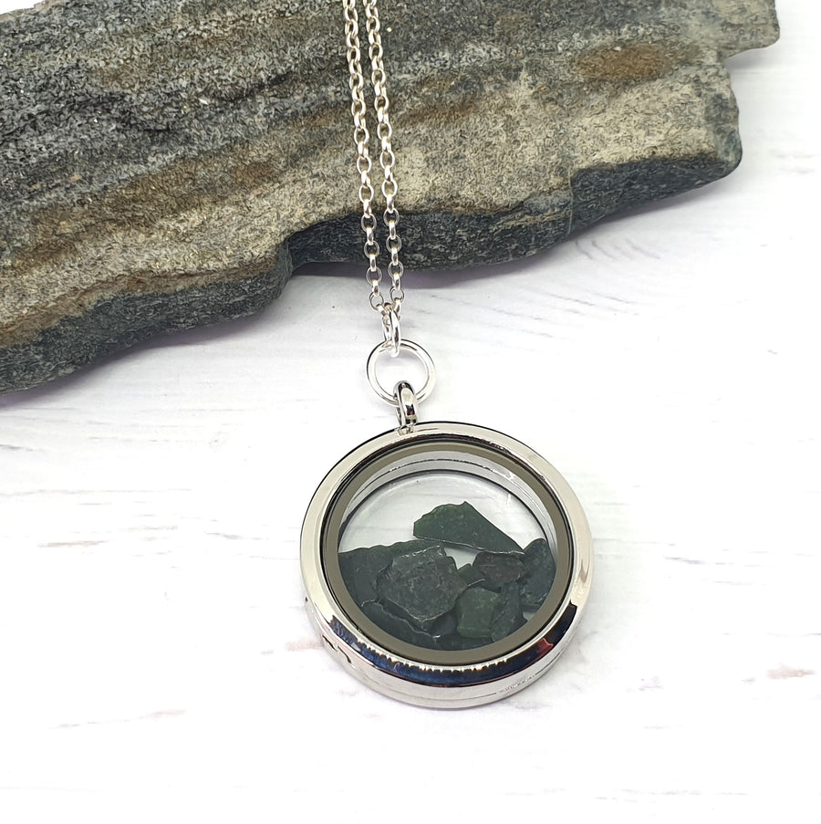 Bloodstone gemstone locket.