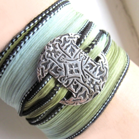Celtic ribbon wrap bracelet