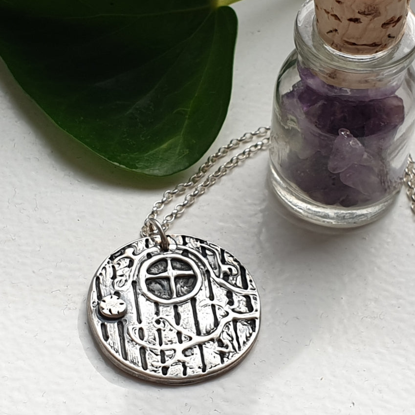 Silver Fantasy Door Necklace