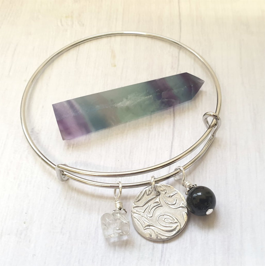 Negativity gemstone bracelet.