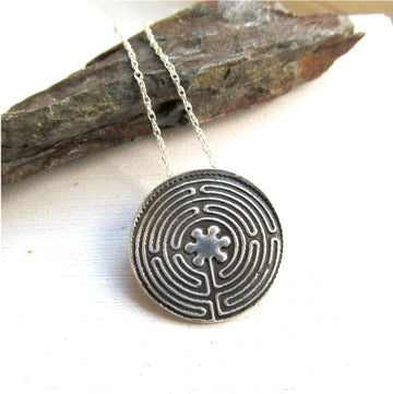 Handcrafted Chartres Labyrinth Necklace