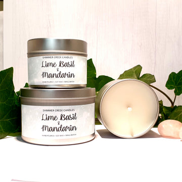 Lime Basil & Mandarin Candle Tin