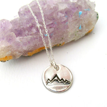 Sterling Silver Mountain Peak Necklace