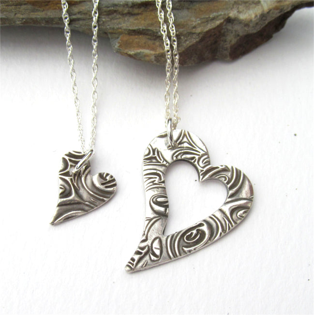 Piece of my heart necklace set.