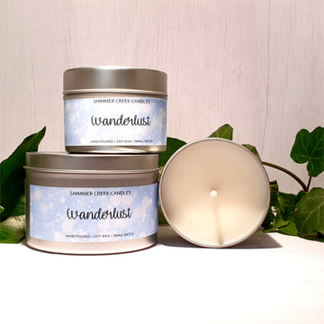 Wanderlust Soy Wax Candle Tin
