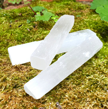 Raw selenite sticks.