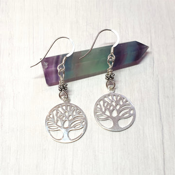 Sterling tree of life earrings.