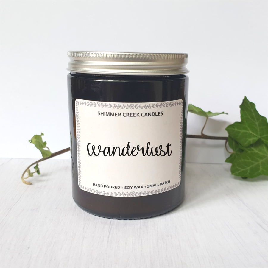 Relaxing soy wax jar candle.