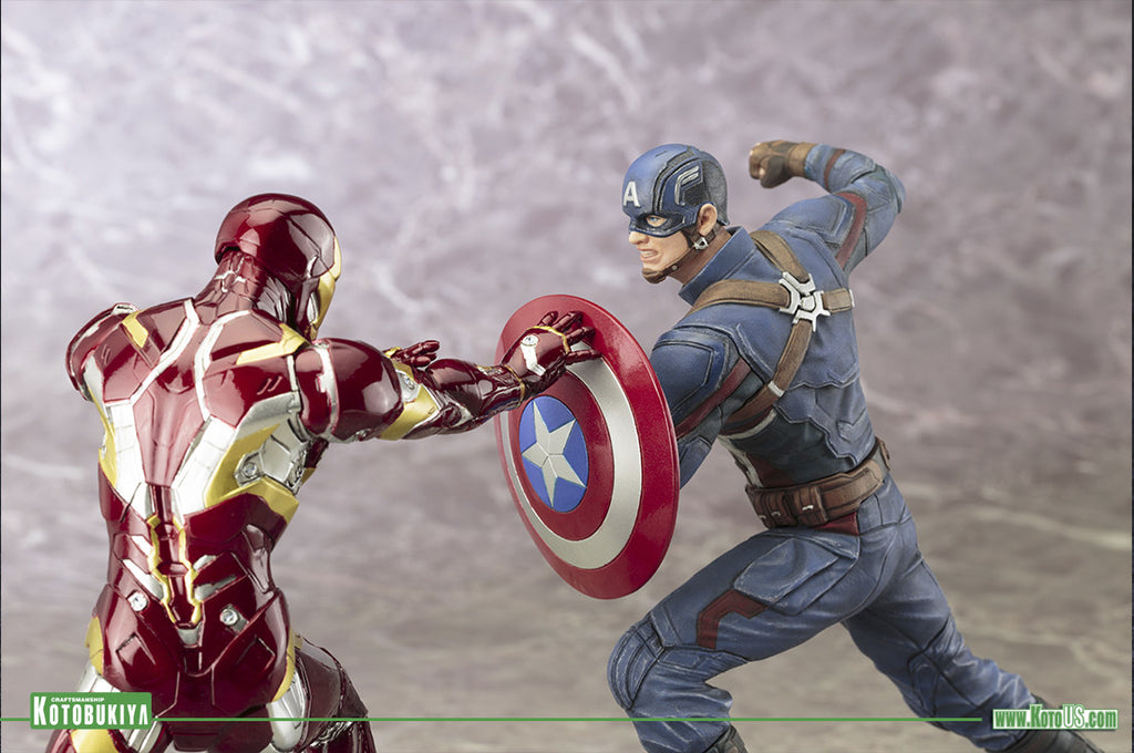 Marvel's Captain America: Civil War Rages On In Artfx+ Scale.