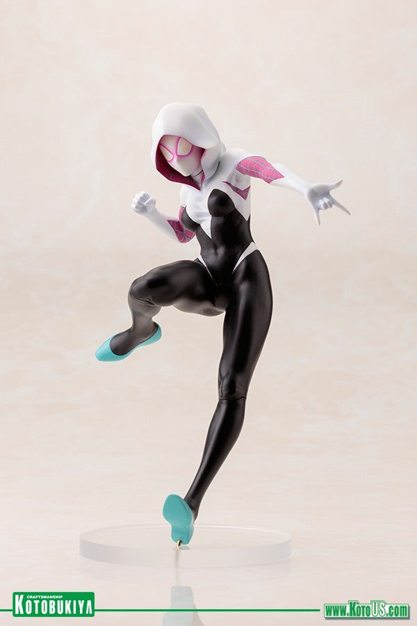Spider-Gwen swings into action as a bishoujo statue!