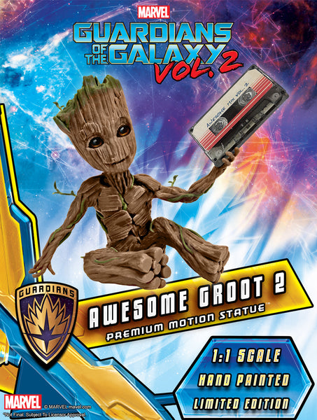 GUARDIANS OF THE GALAXY VOL. 2 - AWESOME BABY GROOT 2 PREMIUM MOTION STATUE (PRE-ORDER)