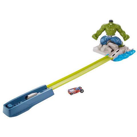 Avengers Hulk Hot Wheels Smash Spin-Out Track Set Playset