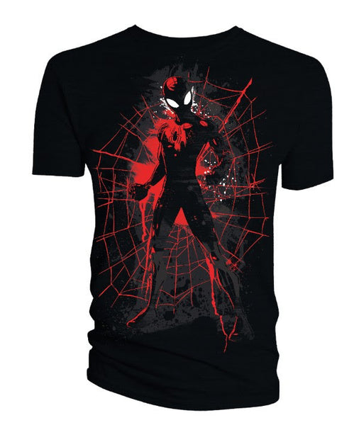 SPIDER-MAN BLACK W/ RED GRAPHICS T-SHIRT