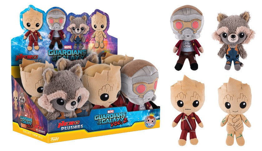 GUARDIANS OF THE GALAXY VOL.2: HERO PLUSHIES - DISPLAY CASE