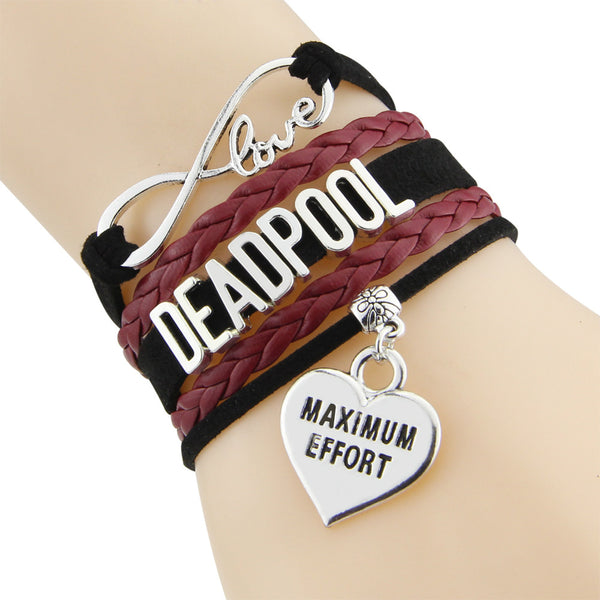 Deadpool Infinity Love Maximum Effort Bracelet