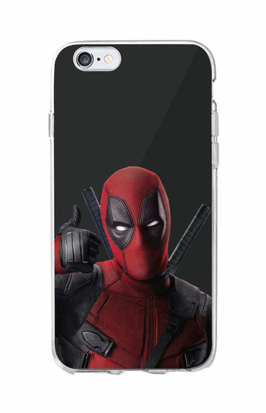 DEADPOOL SOFT PHONE CASE FUNDAS FOR IPHONE, GALAXY AND SAMSUNG